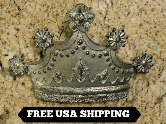 Crown, Wall Plaque, Old World, Medieval, Fleur de Lis, Cross, Queen, King, Decor