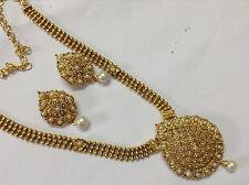 BEAUTIFUL BRIDAL Kundan pearl STONE  Necklace set with Earring