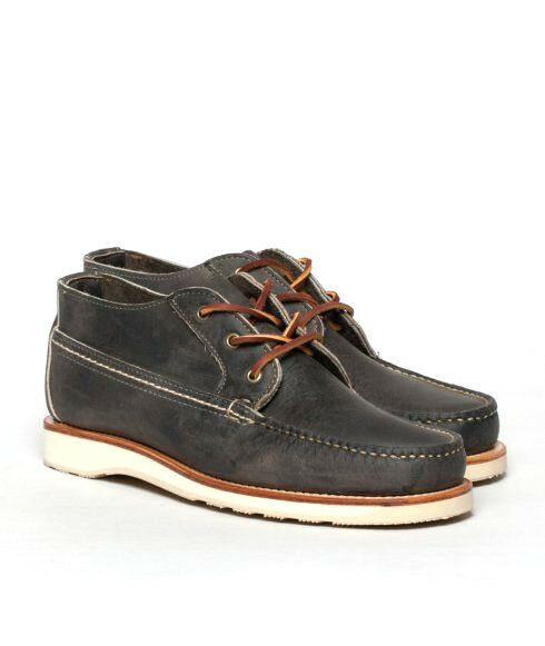 RED WING 9165 CHARCOAL ROUGH & TOUGH CHUKKAS HANDSEWN MOC TOE WEDGE USA +
