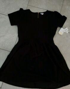 NWT-LuLaRoe-3XL-AMELIA-Dress-in-SOLID-BLACK-Noir-VERSATILE-UNICORN-new-xxxl