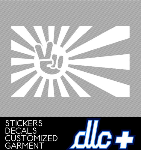 Rising sun japan funny sticker racing JDM car Honda flag window decal