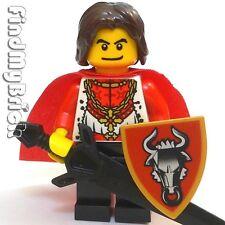C375 Lego Castle Kingdom Golden Bull Knight Hero Minifigure NEW