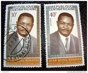 Rrepublique-Centraficaine-Sello-Stamp-Yvert-Y-Tellier-N-132-133