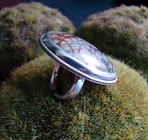 Sterling-Silver-925-Ring-Handcrafted-Picasso-Marble-Ring-Size-5