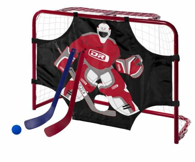 New DR Mini metal indoor hockey goal/target/sticks/ball kids steel knee net set