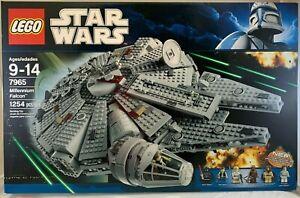 SEALED-7965-LEGO-Star-Wars-MILLENNIUM-FALCON-Spaceship-Vader-1254-pc-set-RETIRED