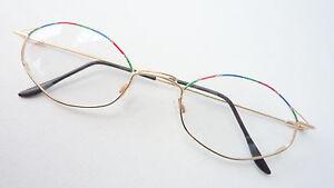 Augenoptik Modestil Brillengestell Brillenfassung Frauen Metall Brille Gold Bunt Leicht Neu Size M Sonnenbrillen