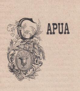 Stemma di Capua, 1871 xilografia