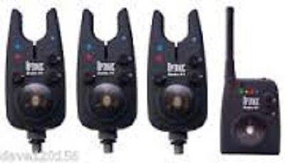 NEW DAIWA SUNDRIDGE WIRELESS G1 RADIO OPTONIC BITE ALARMS SET OF 3!