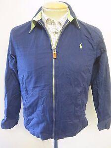 40 Euro 38 12 Polo Reino Harrington Ralph Chaqueta Unido con cremallera Azul 10 Lauren nTqv7
