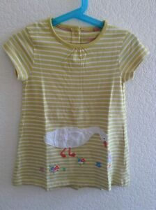 NEW-Beautiful-ex-Baby-Boden-Duck-Applique-Dress-0-to-4-Years