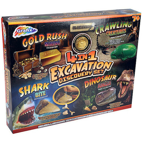 Dig and Discover 4in1 Excavation Discovery Set 40% £15 @ eBay