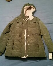 Levi's Women's Small Quilted Puffer Jacket Agn Army