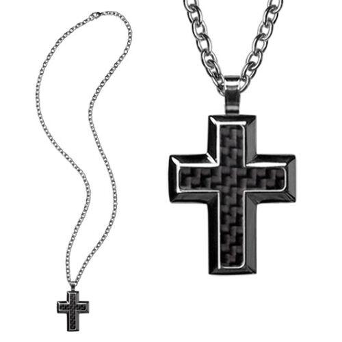 Halskette Edelstahl Kette Dog Tag Kreuz Flügel Anhänger Silber ManoaShark NEU