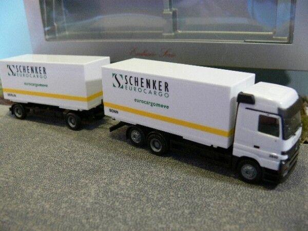 1 87 Herpa MB Actros Schenker Eurocargo Bonn Berlin Wechselkoffer HZ 235396  | Lebhaft