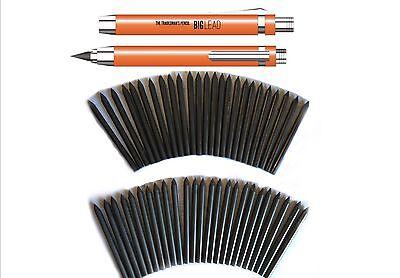 BUILDERS CARPENTERS TRADIES PENCIL + 50 REFILLS  = 51 pencils - 5.6mm Lead
