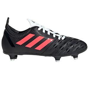 Adidas Malice SG Terrain Souple Junior Enfants Rugby Boot Noir/Rose