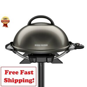 George Foreman 15 Serving Electric Indoor Grill Non Stick Kitchen Outdoor NEW