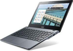"""Acer Chromebook C720 11.6"""" Intel Celeron 2955U 1.4GHz 2GB 16GB SSD Refurbished"""