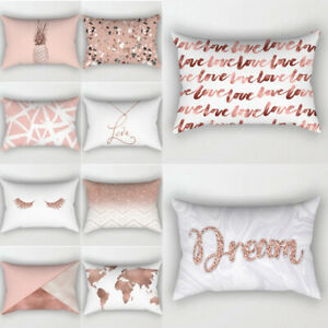Fantastic Details About 1Pc Rose Gold Decorative 30X50Cm Cushion Cover Pillow Case For Sofa Bedroom Car Caraccident5 Cool Chair Designs And Ideas Caraccident5Info
