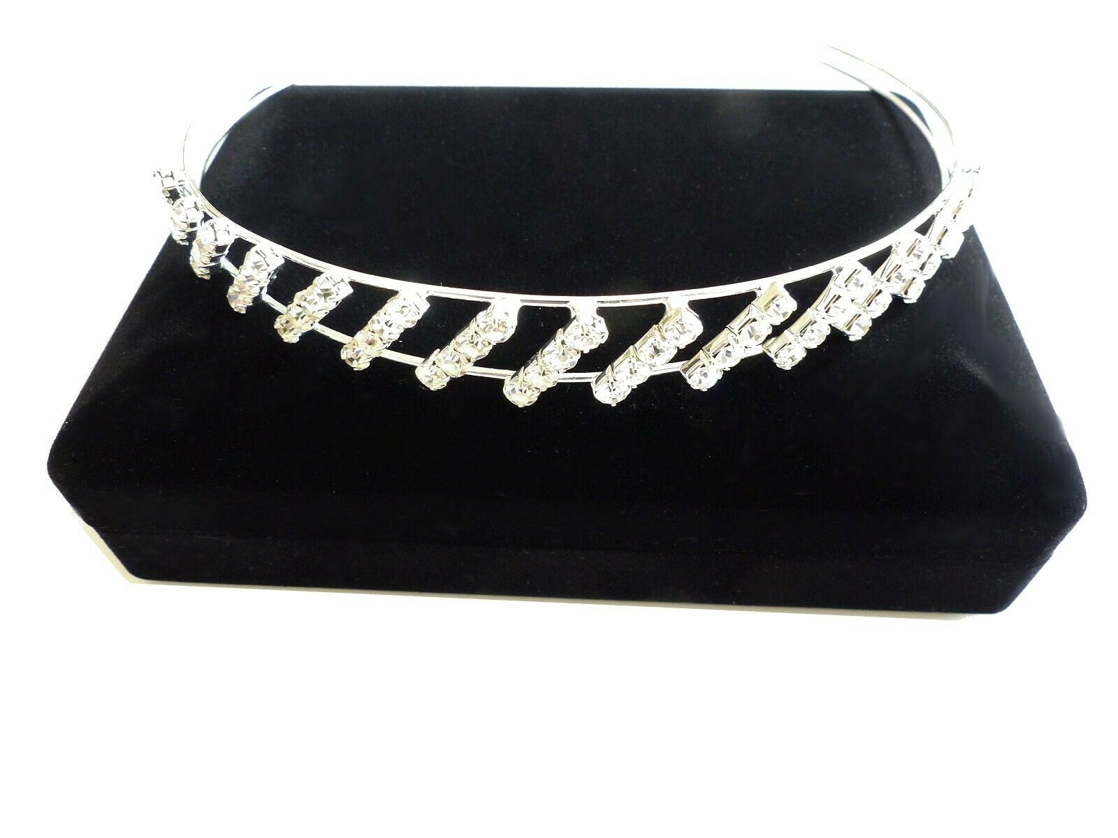 Headband tiara headband bridal wedding hair jewelry rhinestone silver (hsd109)