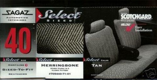 NEW CADILLAC DEVILLE 85,86,87,88 CAR SEAT COVERS HERRINGBONE TAN