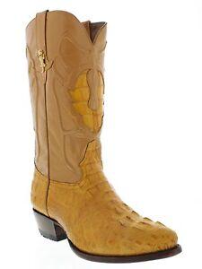 Men's Genuine Crocodile Alligator Head Orange Western Cowboy Boot J toe size 5.5