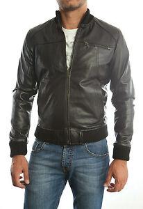 buy online 3bc26 e4b04 Dettagli su Giacca Giubbotto in di Vera PELLE Uomo Slim Fit Ns Produzione  Sped. Gratis 3s7z