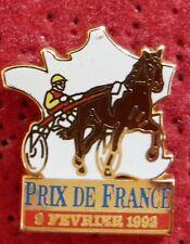 PIN'S CHEVAL EQUITATION SULKY COURSE PRIX DE FRANCE 1992 ZAMAC STARPIN'S