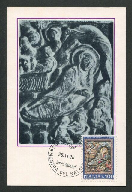 ITALIA MK 1975 NATALE WEIHNACHTEN CHRISTMAS MAXIMUMKARTE MAXIMUM CARD MC d2986