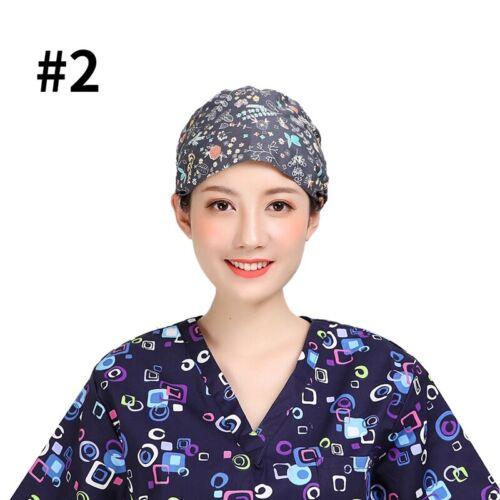 Hommes femmes travaillant Cap réglable médecin infirmière Floral Cap chef impression hat NEW