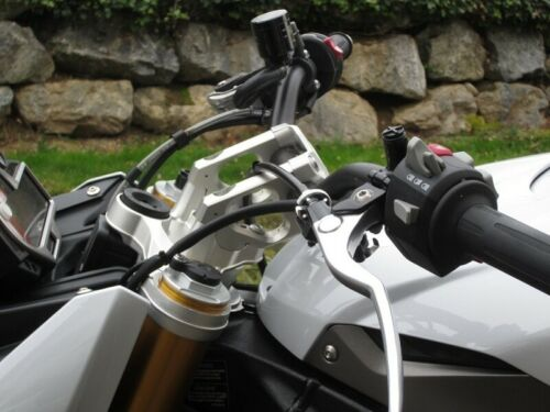 BMW S1000R S 1000 R Handlebar Risers Adapter 6 cm Closer 2 Higher with ABE