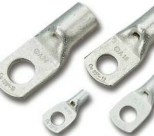 for 6.0mm cable with M6 stud uninsulated pack of 50 Copper crimp lugs