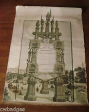 "GAR EASEL SHAPED MONUMENT LARGE DOCUMENT 20"" X 28"" ~ 95TH ILLINOIS INFANTRY"