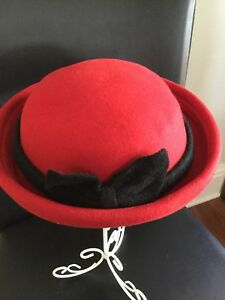 Image is loading Girls-Wool-Dress-Hats be25a966661