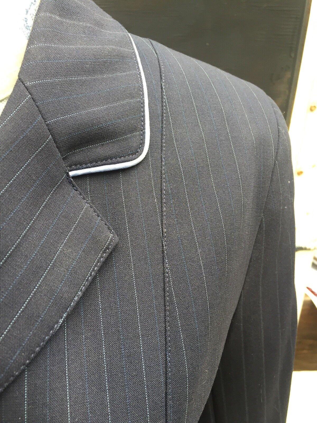 Herve Godignon Coat, Ladies Show Coat, Godignon Navy, Size 10 (Euro 40) 84a864