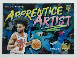 2019-20-Panini-Court-Kings-Apprentice-Artist-Coby-White-Rookie-RC-21-Bulls