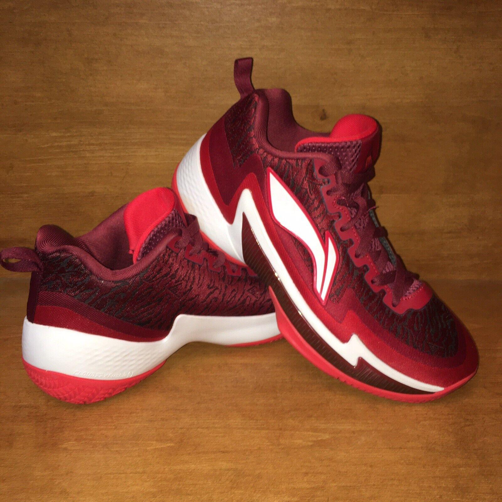 Li-Ning CBA NBA Basketball Shoes Red Power Cloud Cushion Mid Men's Size 8 Rare