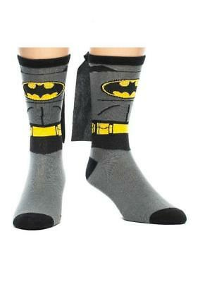 OFFICIAL DC COMICS BATMAN COSTUME STYLED PAIR OF SOCKS WITH CAPE (BRAND NEW)