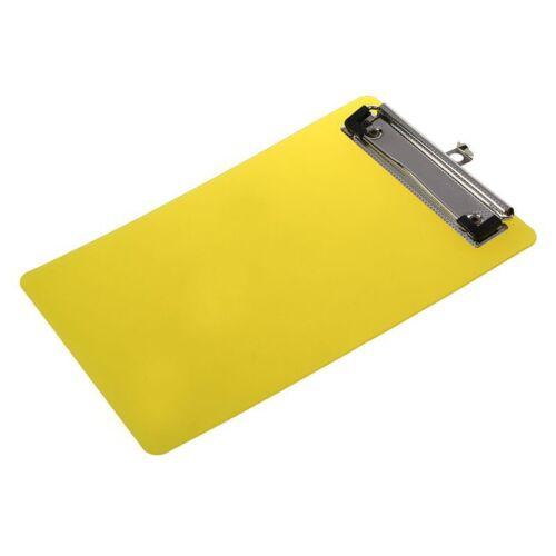 4X Kunststoff A6 Klemmplatte Mappe mit Deckel Schreibunterlage Clipboard Oran KB