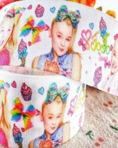"5//8/"" 2 YARDS Jojo Siwa Grosgrain Ribbon Justice Crafts Gift Wrap Hair Bows Cards"