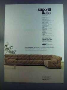 1982 Saporiti Italia Furniture Ad - Longsoft Sofa