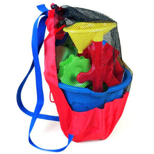 Baby sea storage mesh bags for kids beach sand toys water fun sports backpacYJCA