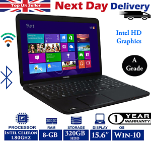 Toshiba-Satellite-c850-15-6-Zoll-Laptop-Intel-Celeron-1-80ghz-8gb-RAM-320gb-HDD