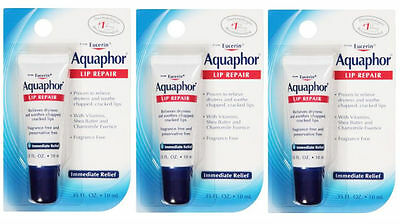 3 PACK Aquaphor Healing Ointment Lip Repair 0.35oz 072140006389DT