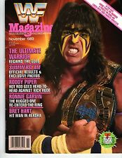 WWF WWE WORLD WRESTLING FEDERATION MAGAZINE NOVEMBER 1989 RODDY PIPER WARRIOR