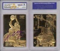 KOBE BRYANT 1996-97 Fleer ROOKIE Signature 23KT Gold Card Sculptured GEM MINT 10
