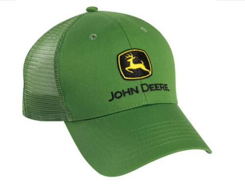 NEW John Deere Green Twill Mesh Cap Hat LP39529