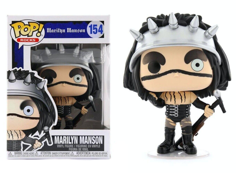 Funko Pop Rocks #154 Marilyn Manson W//Pop Protector The Beautiful People