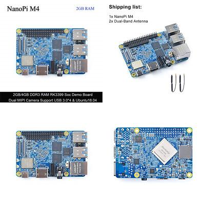Friendlyarm Nanopi M4 2GB DDR3 Rockchip RK3399 Soc 2 4G & 5G Dual Band Wifi  Supp | eBay
